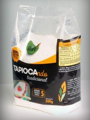 Casa Maní lança tapioca em embalagens no formato pouch