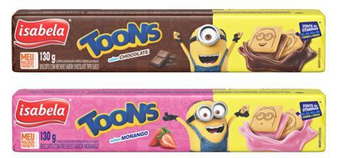 Lançamento de Toons marca a entrada de Isabela no segmento de biscoitos infantis