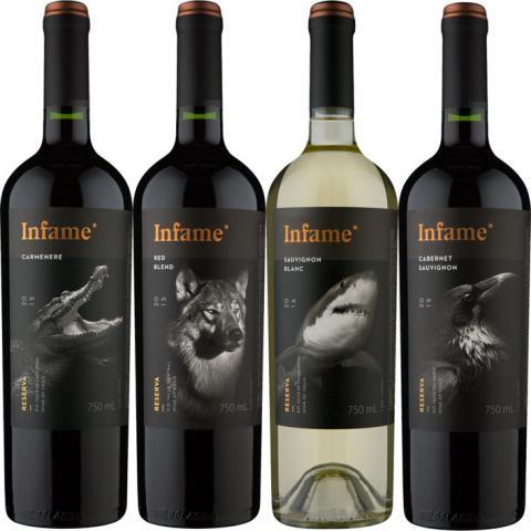 Wine.com.br lança linha Infame com exclusividade no Brasil