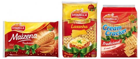 Embalagens comemorativas de Natal Vitarella