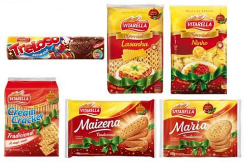 Produtos da Vitarella ganham embalagens especiais de Natal