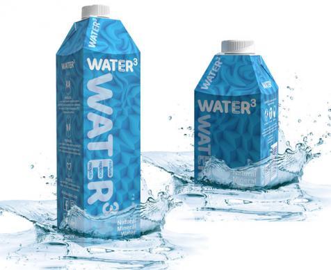Drinks3 lança água em embalagem cartonada