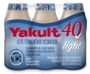 Yakult 40 light ganha nova embalagem com três unidades