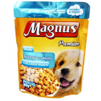 Linha Magnus de alimentos úmidos em embalagem para pets de pequeno porte