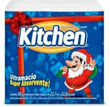 Kitchen lança embalagem de guardanapo especial para o natal
