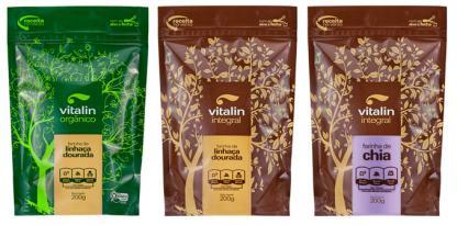 Vitalin apresenta novas embalagens para as farinhas de sementes